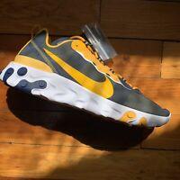 Nike React Element 55 West Virginia Running Shoes Men Size 15 CK4854-400 NCAA