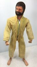 G.I. Joe Adventure Team brown beard/hair yellow 1 piece suit 1970's talkie fpnw