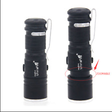 Mini Tactical Flashlight Zoomable 20000LM T6 LED Light Torch 16340 3 Modes Lamp