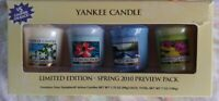 HTF RARE YANKEE CANDLE SPRING 2010 preview sampler pack 4 votive candles retired
