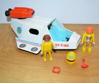 Vintage PLAYMOBIL SPACE SHIP PLAYSET Parts Lot 1980 Geobra PlaymoSpace Figures