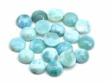 NATURAL LARIMAR 8mm ROUND CALIBRATED 100% GENUINE, (LOT OF 10 STONES)