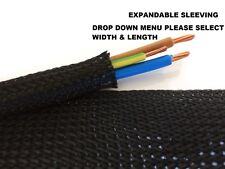 Expandable Sleeving Black Braided (6-50mm) Harness Sheathing Cable Wiring Loom