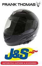 M Frank Thomas FT833 Predator Full Face Motorcycle Helmet Gloss Black J/&S