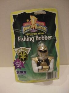RARE Vintage Original Power Rangers Zebco White Ranger Fishing Bobber 1995 New