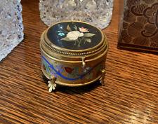 Vintage Pietra Dura Trinket Box