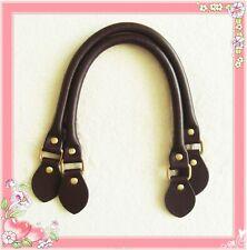 45cm hochwertige Taschengriffe Rindleder dunkelbraun Henkel