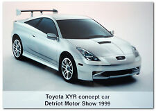 TOYOTA Celica XYR Concept Car Detroit MOTOR SHOW 1999 comunicato stampa fotografia
