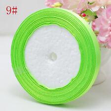 "Free Shipping wedding festival 25 Yards 3/8"" 10mm Craft Satin Ribbon Apple Green"