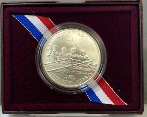 1996 D US Atlanta Centennial Olympic Games Rowing Uncirculated Silver Dollar