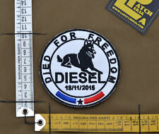 "Ricamata / Embroidered Patch ""Diesel K9""  with VELCRO® brand hook"