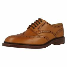 MENS LOAKE LEATHER LACE UP TAN BROGUE STYLE CHESTER 2