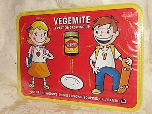 Vintage Retro Vegemite Kraft Placemat / Place Mat A Part of Growing Up 35CmW