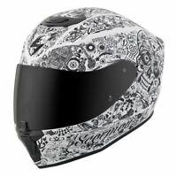 Scorpion EXO-R420 Full Face Motorcycle Street Helmet White Medium 75-1135M