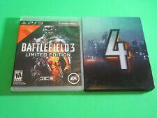 PS3 - Lot of 2 Games - Battlefield 4 Steel Book w/ Battlefield 3