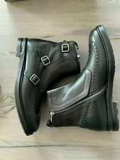 Alexander McQueen Amq Motard Brogue Chelsea Bottes Chaussures Neuf Emballage 43