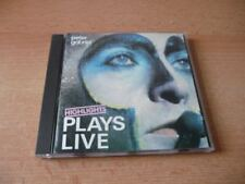 CD PETER GABRIEL-PLAYS LIVE-Points forts - 1983 - 12 Chansons