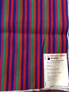 ALEXANDER GIRARD Orig Tag HERMAN MILLER Textiles MCM Vintage 1960s FABRIC Sample