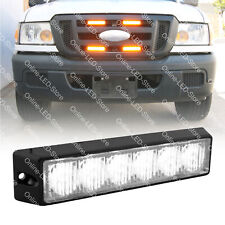 6W LED EMS EMT Police Emergency Vehicle Grille Grill Warning Light Head-White