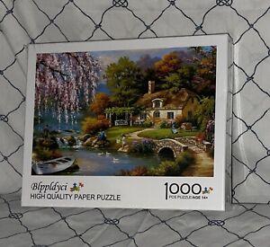 NEW/SEALED Blppldyci Jigsaw Paper Puzzle (1000 Piece) Sakura River Cottage