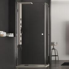 Box doccia 80x80 cristallo trasparente apertura battente con parete fissa h 190