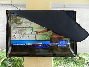 52 Inch Invisible Clear Waterproof Outdoor Tv Television Cover Double Protection