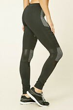 64% OFF!AUTH FOREVER 21 MARLED MOTO WORKOUT ACTIVE LEGGINGS SMALL BNEW US$22.90