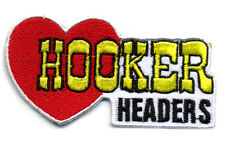 Hot Rod Patch Hooker Headers badge Drag Race Muscle Car Nostalgia Speed Shop