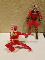 "2 Power Rangers Red Ranger 6"" / 5"" Action Hero Figure #13"