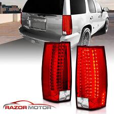 2007 2014 Chevy Suburbantahoeyukonxl Denali Red Clear Led Tail Lights Lamps Fits 2007 Chevrolet Suburban 1500