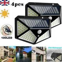 100LED Solar Power Wall Light PIR Sensor Outdoor Gargen Security Lamp Floodlight