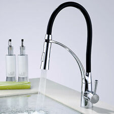 360° Rotating Kitchen Sink Faucet With Pull-out Spin Kitchen Black Taps