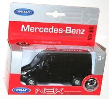 Welly - MERCEDES-BENZ Sprinter Panel VAN (Black) Model Scale 1:39