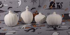 Halloween Pumpkins (H50) Set of 4 Ceramic Bisque You Paint