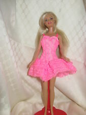Vintage Barbie Pink Tag - Pink Party Dress,  with pink lace #9725 1990