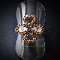 Padparadscha Quarz Baguette Weißtopas Designer Ring 925er rhodiniert 18,4 mm