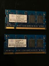 1GB DDR2 Nanya PC4200 SO-DDR2 Laptop Memory Memory (2x512MB)