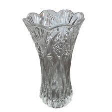 Cut Glass 8 Inch Decorative Flower Vase