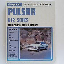 Nissan Pulsar N12 Series 1982-84 Gregorys Service & Repair Manual #216
