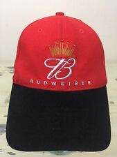 BUDWEISER HAT - Red   Black Fitted Flex Fit Beer Baseball Cap 210c37105