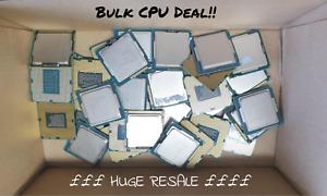 Bulk lot of 18 x Desktop CPUs Intel Core i3 i5 i7 Huge Resale !!