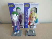 Neca DC Batman Suicide Squad Both HARLEY QUINN & JOKER Bobble Head Knockers