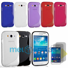 Funda + 2 PROTECTOR para SAMSUNG GALAXY GRAND NEO i9060 i9080 PLUS GEL S-LINE