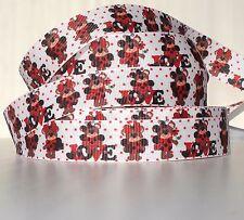 "Love Bear Ladybugs 7/8"" grosgrain ribbon 4 yds. home decor craft"