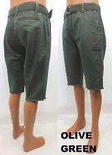 Men's FOCUS chino shorts black timber navy lime design cutoff at leg style 008