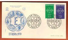 1959 - FDC 1°JOUR (CSNTP) **Exposition Philatélique - Europa **TIMBRE Yt. 1218/9