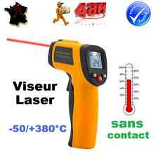 THERMOMETRE INFRAROUGE LASER PISTOLET SONDE SANS CONTACT -50° à + 380°