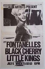 FONTANELLES/BLACK CHERRY/LITTLE KINGS Original Poster 198? Jayne Mansfield