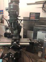 "Bridgeport Vertical Milling Machine - 48"" x 9"" Table - Variable Speed - 2 HP"