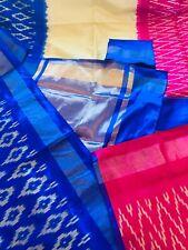 Indian Banarasi Sari/ Katan/Kanjeevaram/ Bridal IKKAT Pure Silk Mark Saree 79